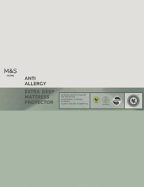 Anti Allergy Extra Deep Mattress Protector, WHITE, catlanding