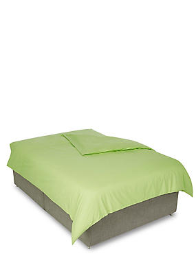 Percale Duvet Cover, LIME, catlanding