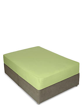 Percale Deep Fitted Sheet, Lime Green, catlanding