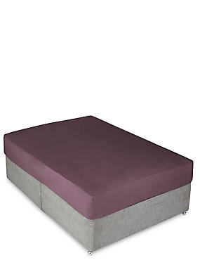 Percale Deep Fitted Sheet, DARK GRAPE, catlanding