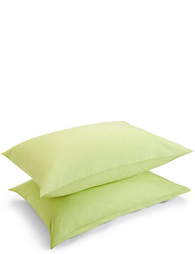 2 Pack Percale Pillowcase, LIME, catlanding