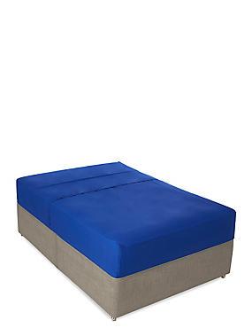 Percale Flat Sheet, BRIGHT BLUE, catlanding