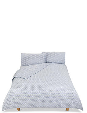Willow Printed Bedding Set, BLUE, catlanding