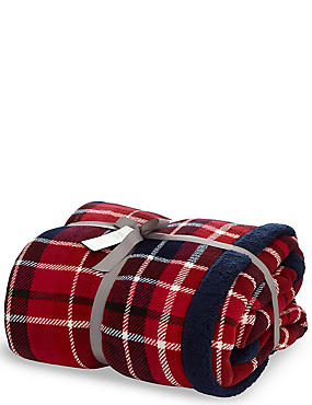 Tartan Checked Fleece Throw