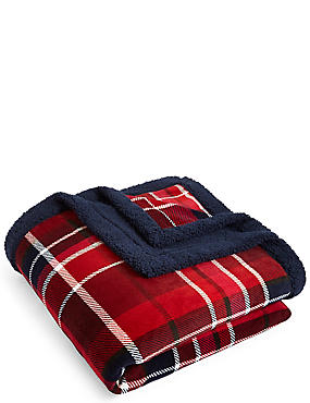 Tartan Check Fleece Throw