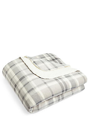 Dawson Check Fleece Throw