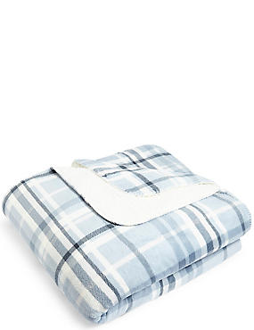 Harrison Check Fleece Throw