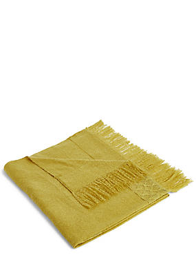 Lace Trim Throw