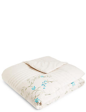 Floral Embroidered Bedspread