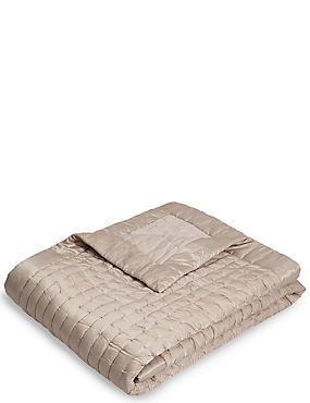 Autograph Cotton & Silk Blend Small Bedspread, MINK, catlanding