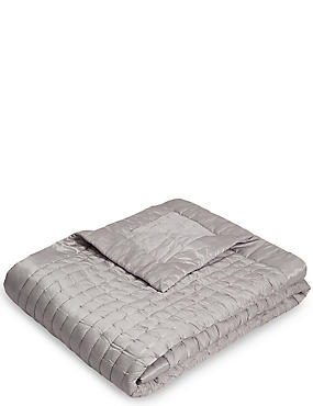 Autograph Cotton & Silk Blend Small Bedspread, SILVER, catlanding