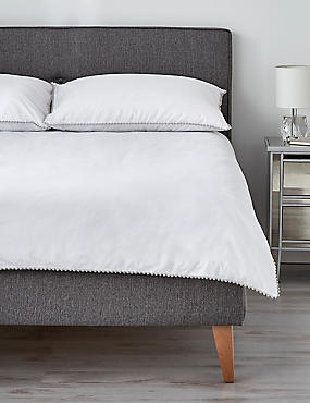 Pom-Pom Bedding Set, GREY MIX, catlanding