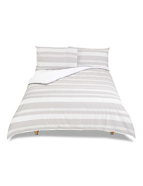 Gingham Striped Bedding Set