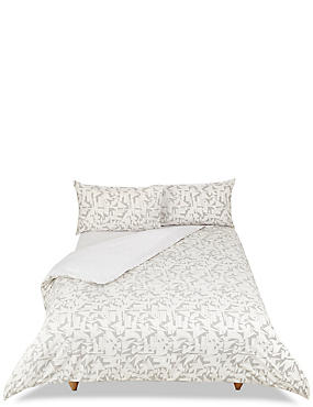 Geometric Print Bed in a Bag Bedding Set