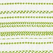 Casual Craft Embroidered Bedding Set, LIME, swatch