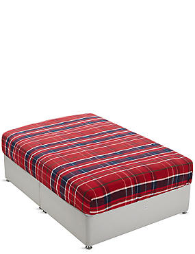 Brushed Cotton Tartan Checked Fitted Sheet