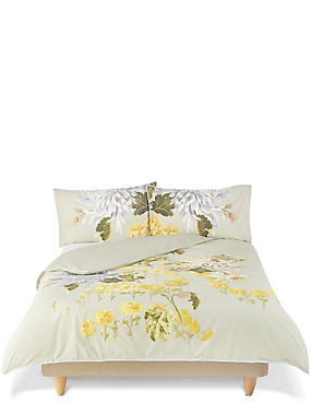 Gabrielle Floral Print & Embroidery Bedding Set