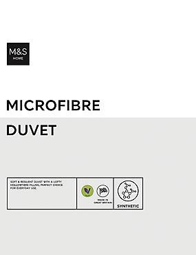 Microfibre 4.5 Tog Duvet, WHITE, catlanding