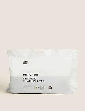 2 Pack Microfibre Pillows, , catlanding