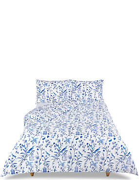 Hummingbird Print Bedding Set, BLUE MIX, catlanding