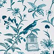 Hummingbird Print Bedding Set, DARK KINGFISHER, swatch