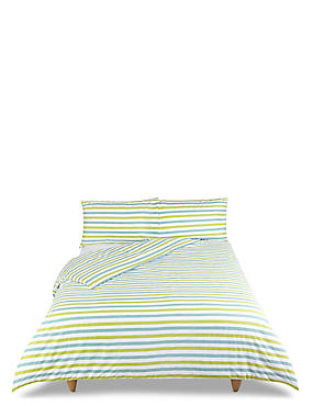 Elliott Printed Stripe Bedding Set, LIME MIX, catlanding