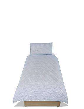 Kids Ridley Printed Stripe Bedding Set, BLUE/WHITE, catlanding
