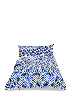 Ella Leaf Bedding Set, MEDIUM BLUE MIX, catlanding