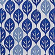Ella Leaf Bedding Set, MEDIUM BLUE MIX, swatch