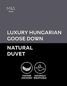 Hungarian Goose Down 13.5 Tog Duvet, WHITE, catlanding