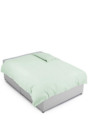 Pure Egyptian Cotton 400 Thread Count Duvet Cover, DUCK EGG, catlanding