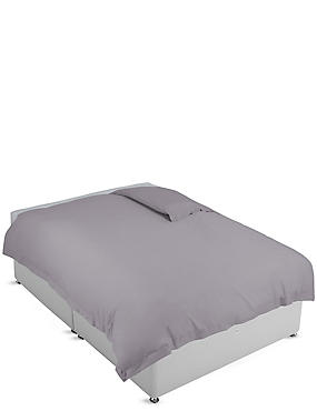 Pure Egyptian Cotton 400 Thread Count Duvet Cover, ASH GREY, catlanding