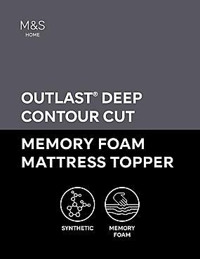 6cm Deep Contour Cut Memory Foam Mattress Topper, WHITE, catlanding