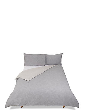 Reversible Cotton Slub Bedding Set