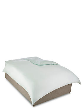Egyptian Cotton 400 Thread Count Sateen Duvet Cover, DUCK EGG, catlanding