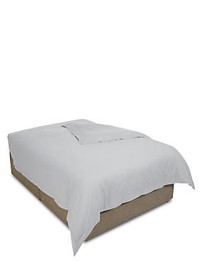 Egyptian Cotton 400 Thread Count Sateen Duvet Cover, PEARL GREY, catlanding