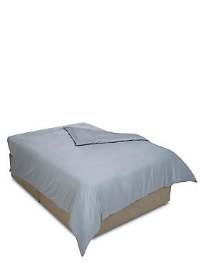 Egyptian Cotton 400 Thread Count Sateen Duvet Cover, PEBBLE, catlanding