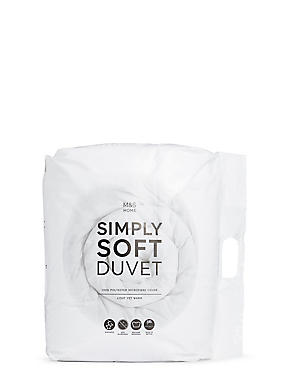 Simply Soft 13.5 All Season Tog Duvet, WHITE, catlanding