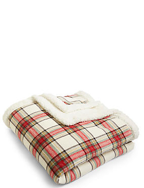 Austin Check Fleece Throw