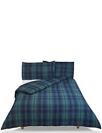 Dalton Check Brushed Bedding Set