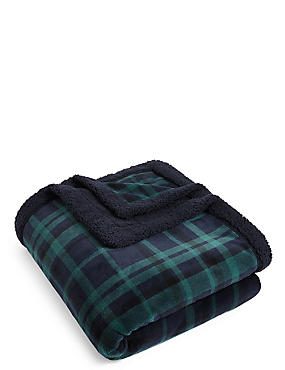 Dalton Check Fleece Throw