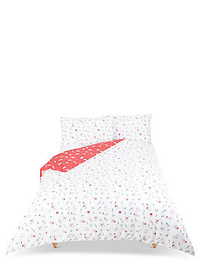Llama Bedding Set, RED MIX, catlanding