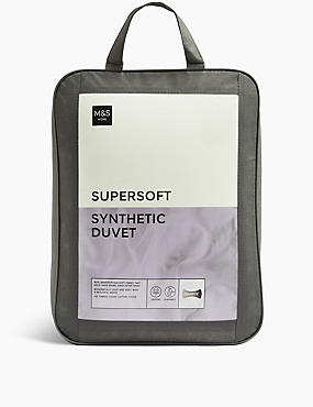 Supersoft 4.5 Tog Duvet, WHITE, catlanding
