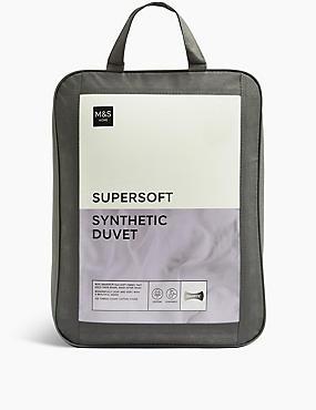 Supersoft 13.5 All Season Tog Duvet, WHITE, catlanding