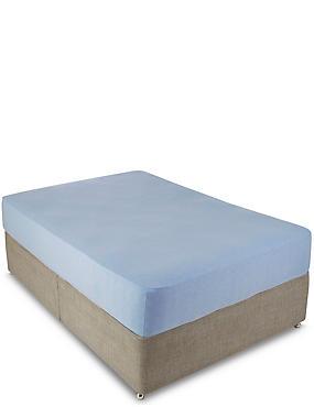 Jersey Fitted Sheet, BLUE MARL, catlanding