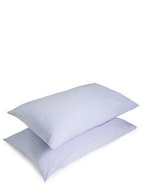 Jersey Housewife Pillowcase Pair, BLUE MARL, catlanding