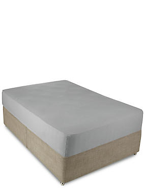 Jersey Deep Fitted Sheet, GREY MARL, catlanding