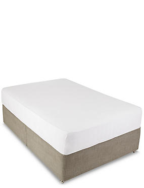 Jersey Deep Fitted Sheet, WHITE, catlanding