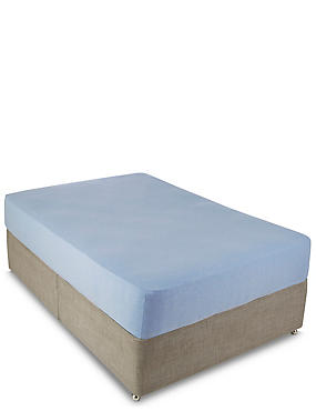 Jersey Deep Fitted Sheet, BLUE MARL, catlanding
