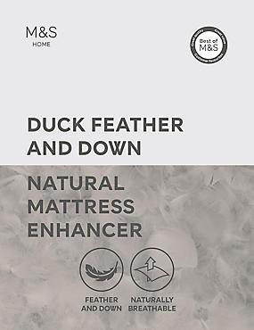 Duck Feather & Down Mattress Enhancer, WHITE, catlanding